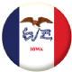 Iowa State Flag 58mm Button Badge